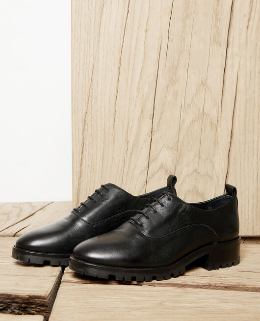 Derbies en cuir noir NOIR