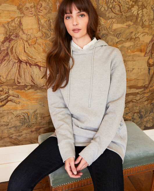 Sweatshirt à capuche LIGHT GREY