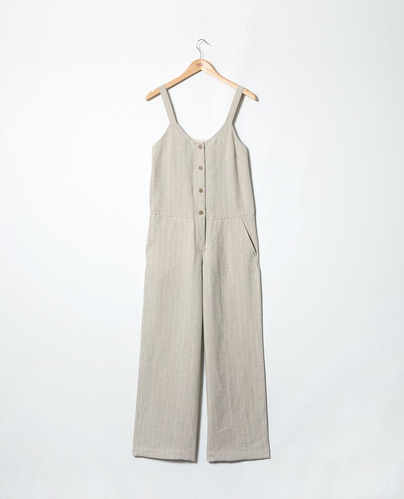 6783da87fbcc4 Combinaison en lin Natural linen off white - Inac