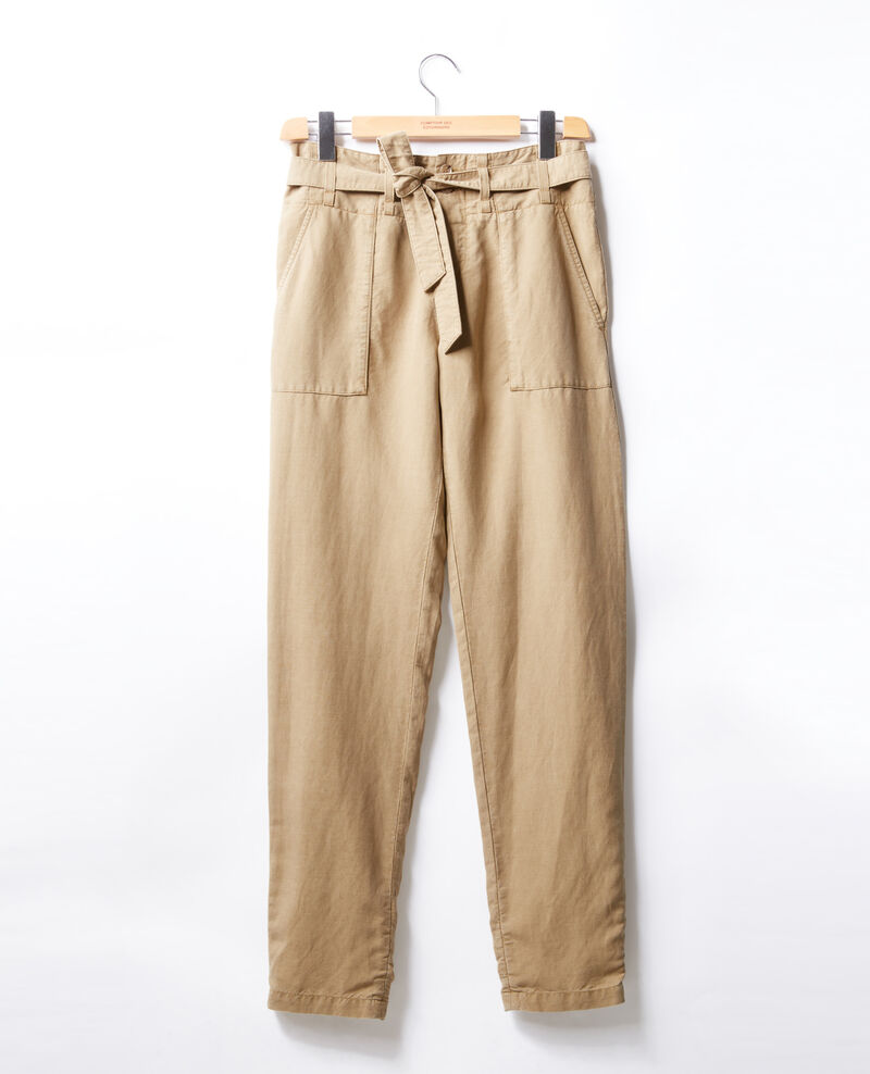 Pantalon chino ceinturé  Mastic Faaron
