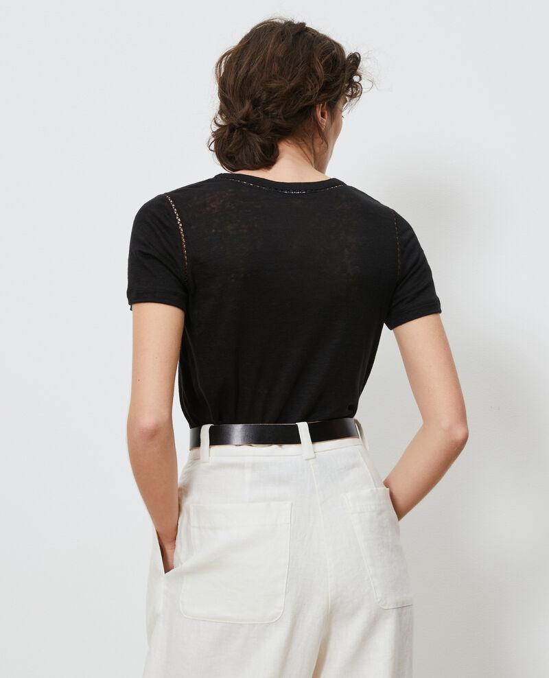 T-shirt en lin Black beauty Lye