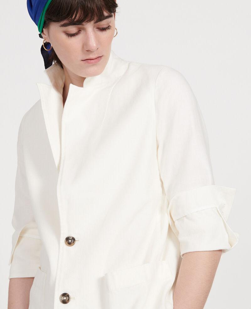 Veste de costume en twill de lin et coton mélangés Gardenia Lalbere
