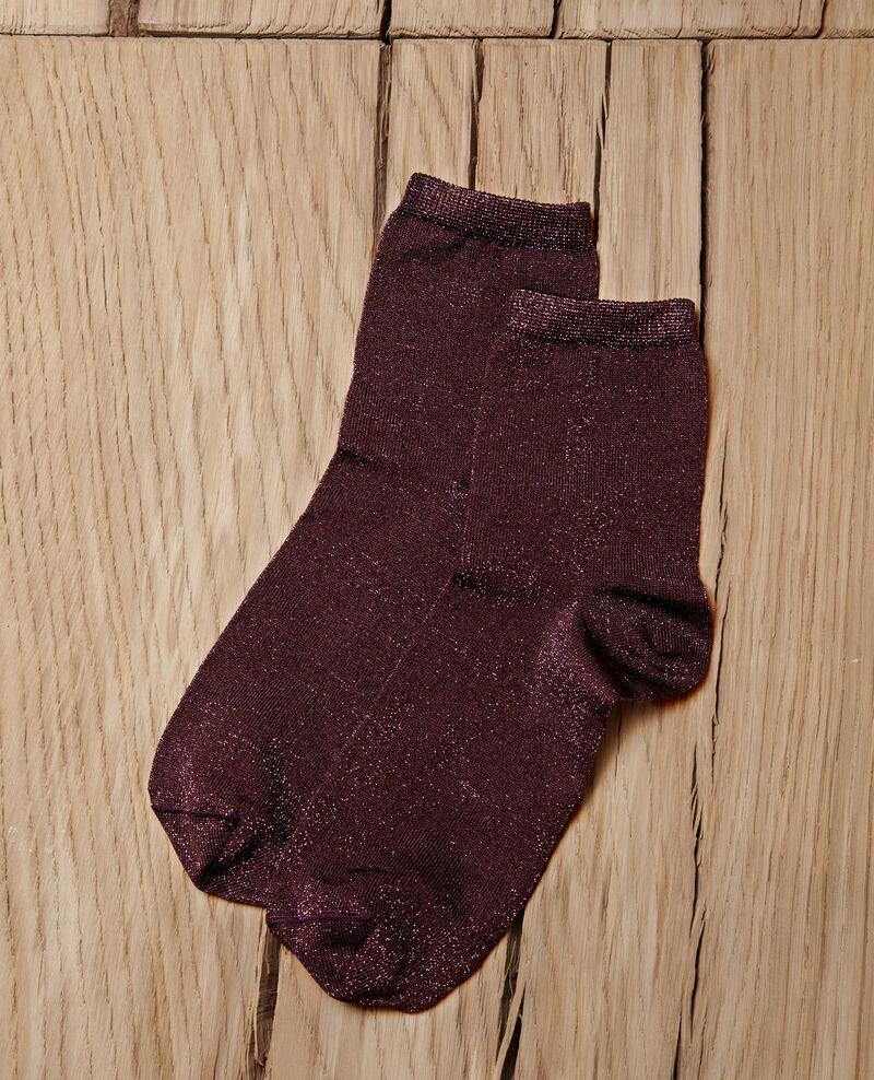 Chaussettes avec lurex Parachute purple Gaussette