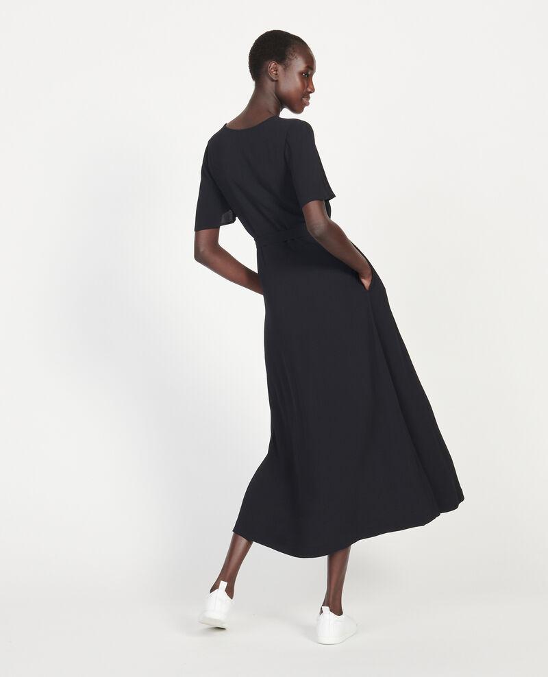 Robe longue en viscose crêpe Black beauty Lavish