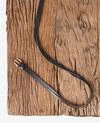 Ceinture en cuir torsadée Noir Fiole
