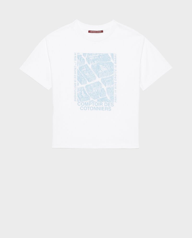T-shirt en coton manches courtes Forget me not Marlane