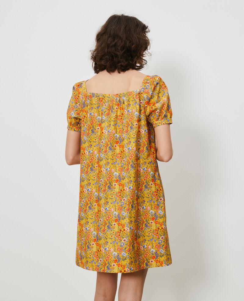 Robe courte en coton et soie Prairie spectra Neffa