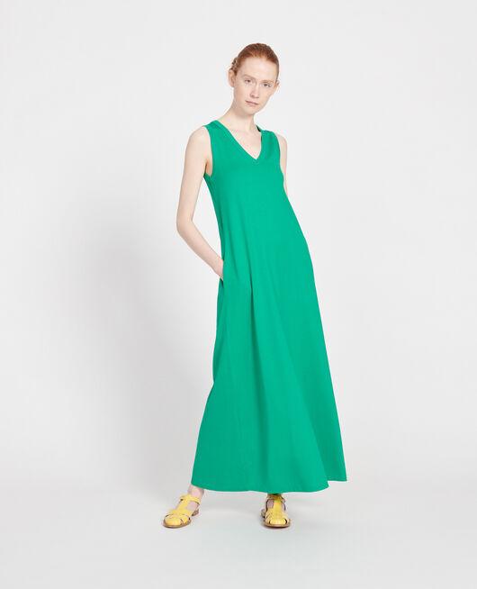 Robe longue en coton mercerisé GOLF GREEN