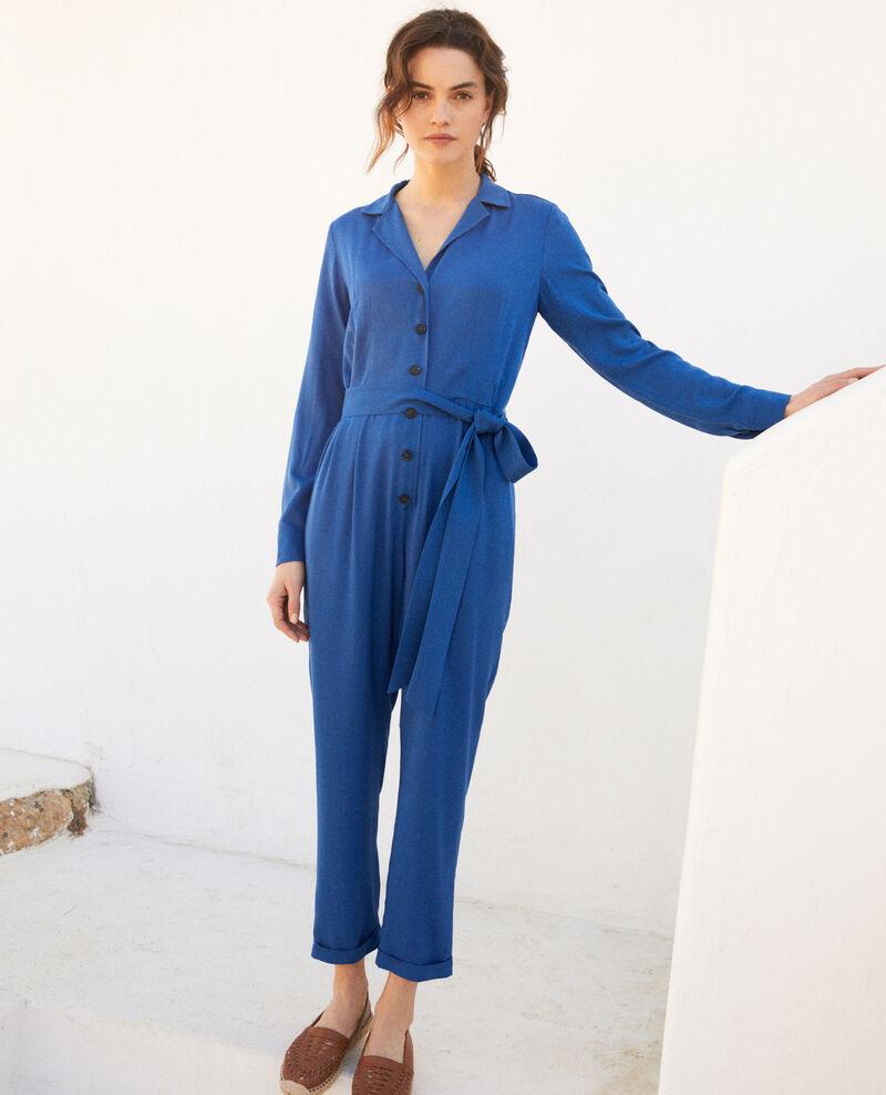 Combinaison col chemise Imperial blue Ioasis