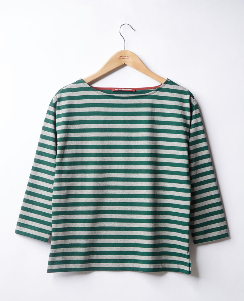 T-shirt marinière Green/heather grey Ditoc