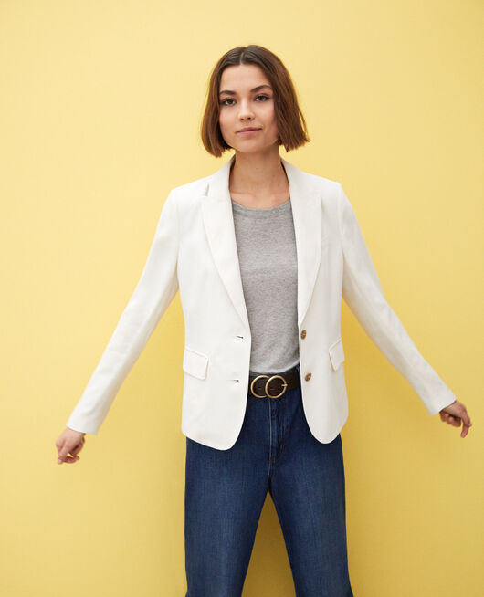 Veste de costume intemporelle Blanc