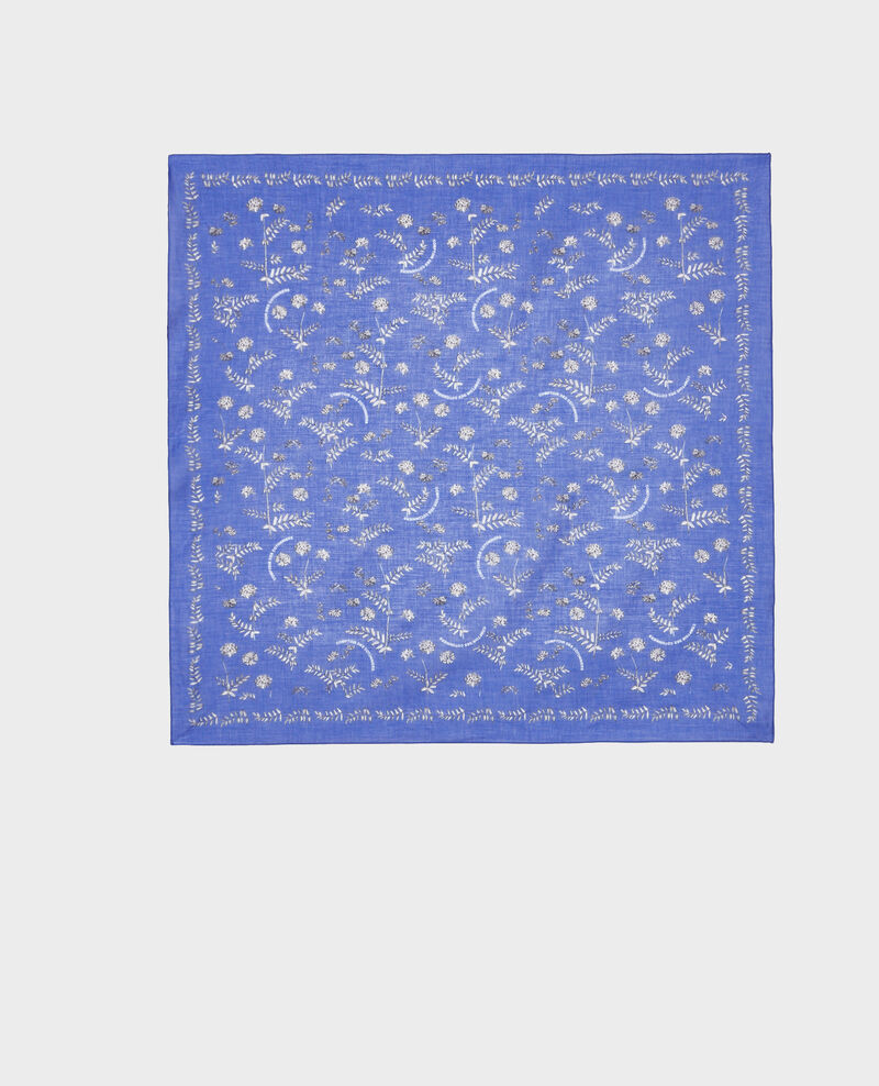 Bandana en coton imprimé Royal blue Noronille