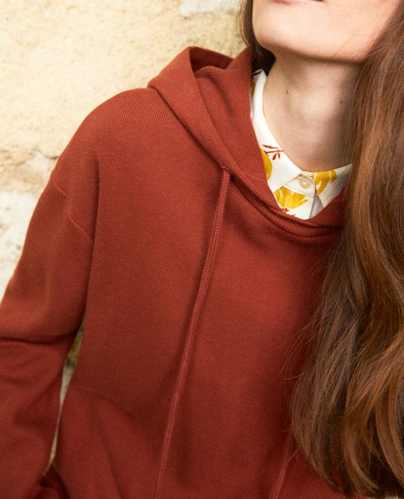 Sweatshirt à capuche Brandy brown Jasette