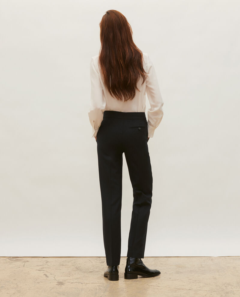 Pantalon MARCELLE, masculin, droit en laine  Black beauty Misabelle