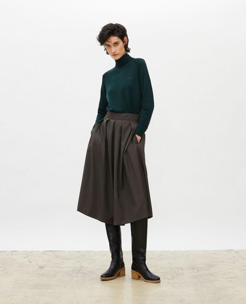 Pull en laine mérinos à col cheminée Scarab Malleville
