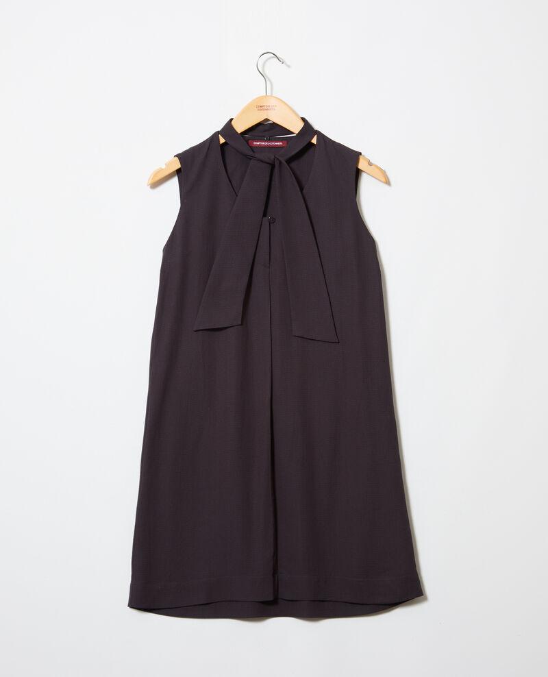 Robe avec lavalière amovible Noir Iolandi