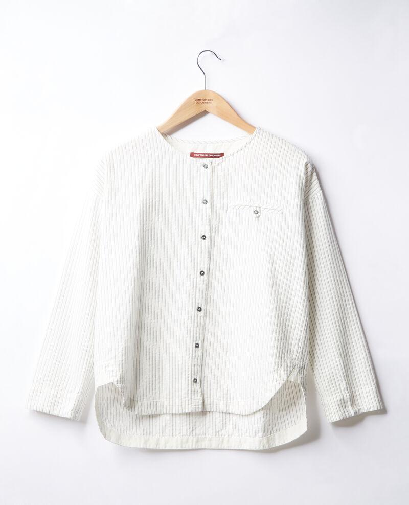 Chemise rayée Off white/navy stripes Falaise