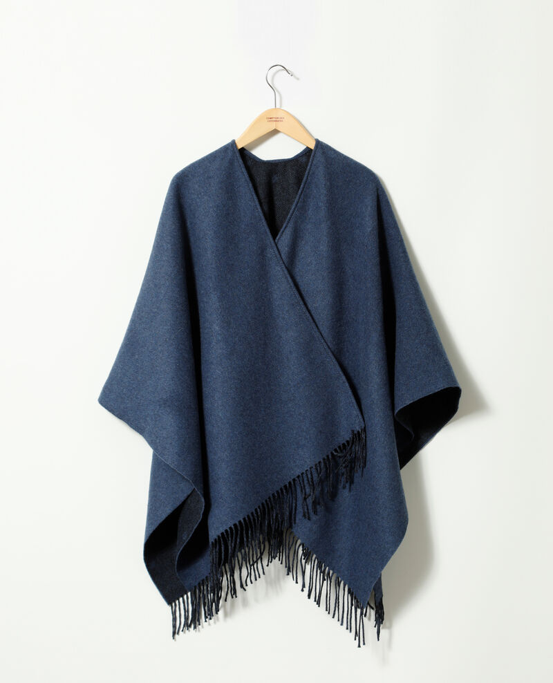 6d3fa581df44 Cape femme avec laine couleur Ad peacoat - Gape   Comptoir des ...