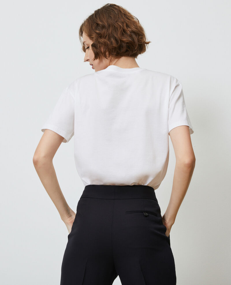 T-shirt coton col rond Optical white Lirous