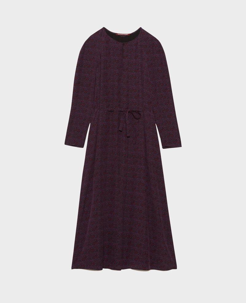 Robe longue en soie Paisley purple Paarsa