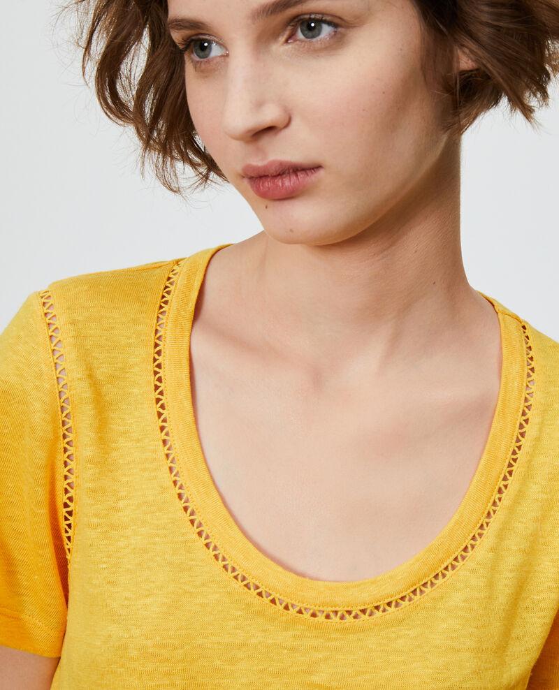 T-shirt en lin Spectra yellow Lye