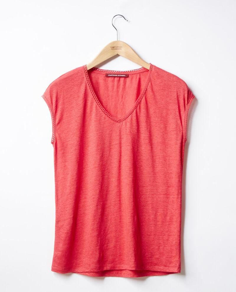 T-Shirt en lin Ultra pink Fevian