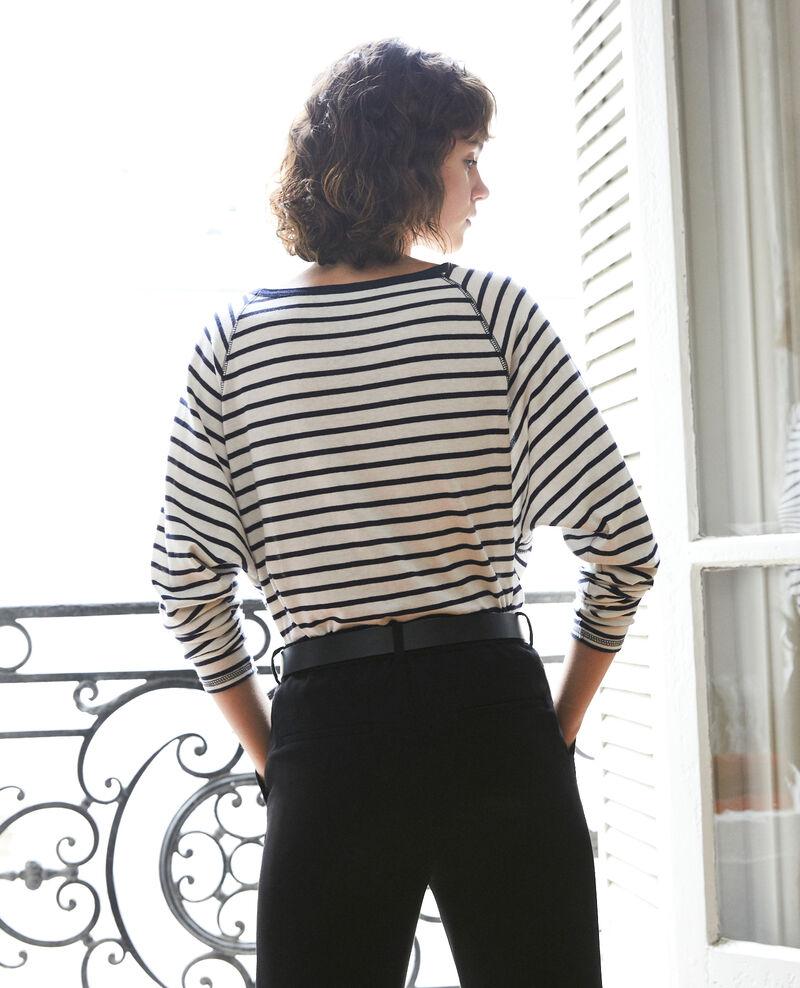 T-shirt marinière Off white/peacoat Gainde