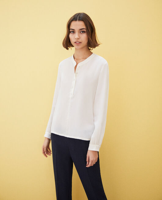 Blouse en soie OFF WHITE