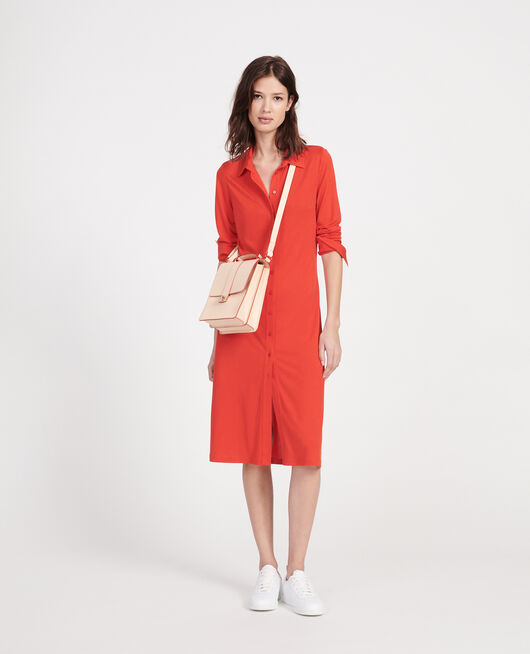 Sac en cuir STRIPES FIERY RED GARDENIA