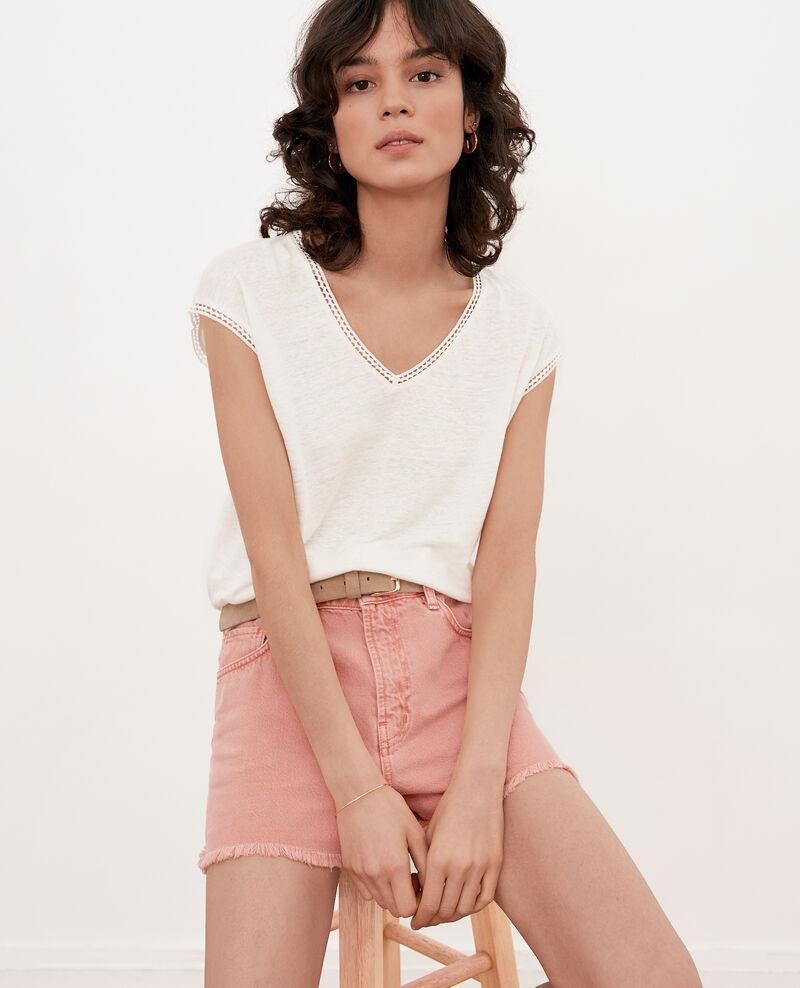 T-Shirt en lin Off white Fevian