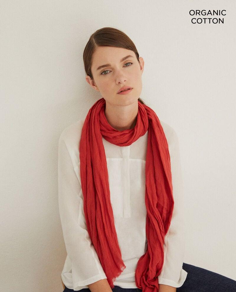 Foulard en coton organique Pompeian red Geste