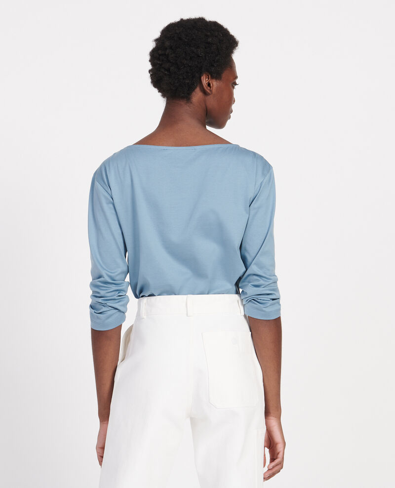 T-shirt coton manches longues col bateau Bluestone Lotel