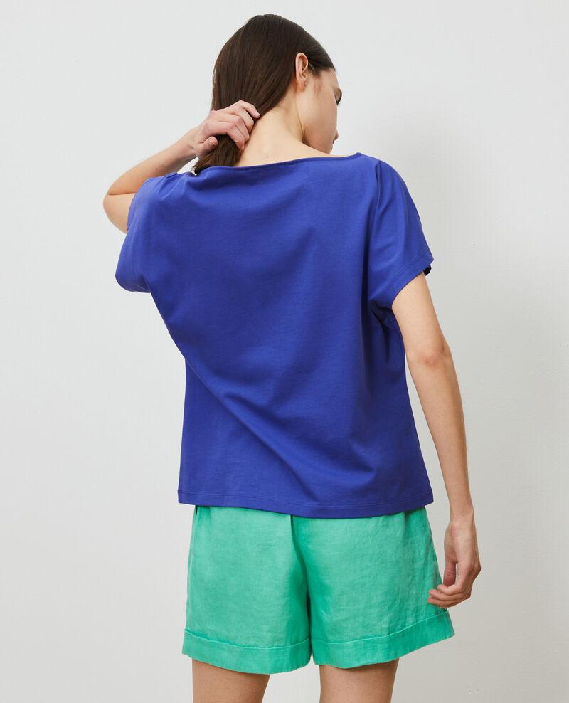 T-shirt en coton manches courtes Royal blue Marcelin