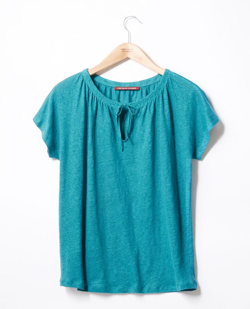 T-shirt en lin Pacific green Flabi