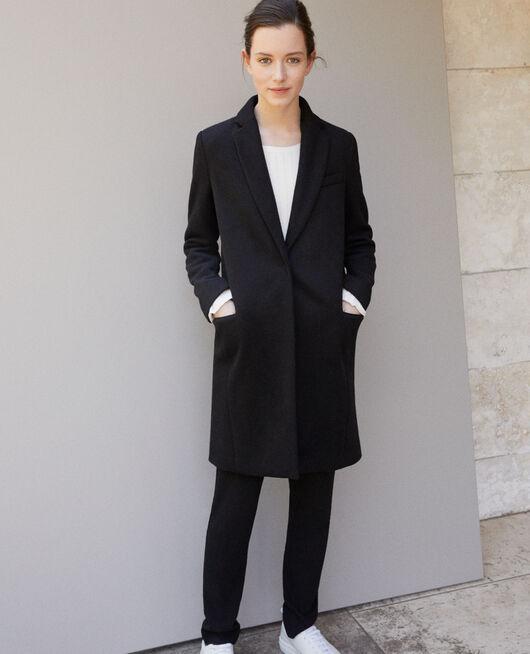 Manteau avec col de costume NOIR
