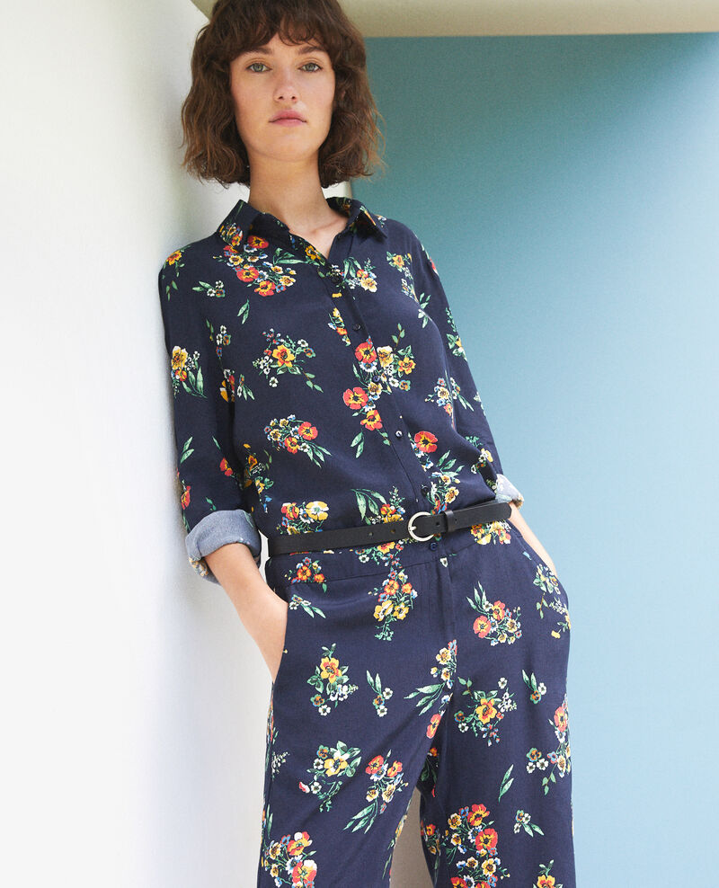 Combinaison chemise Fleurs navy Forecast