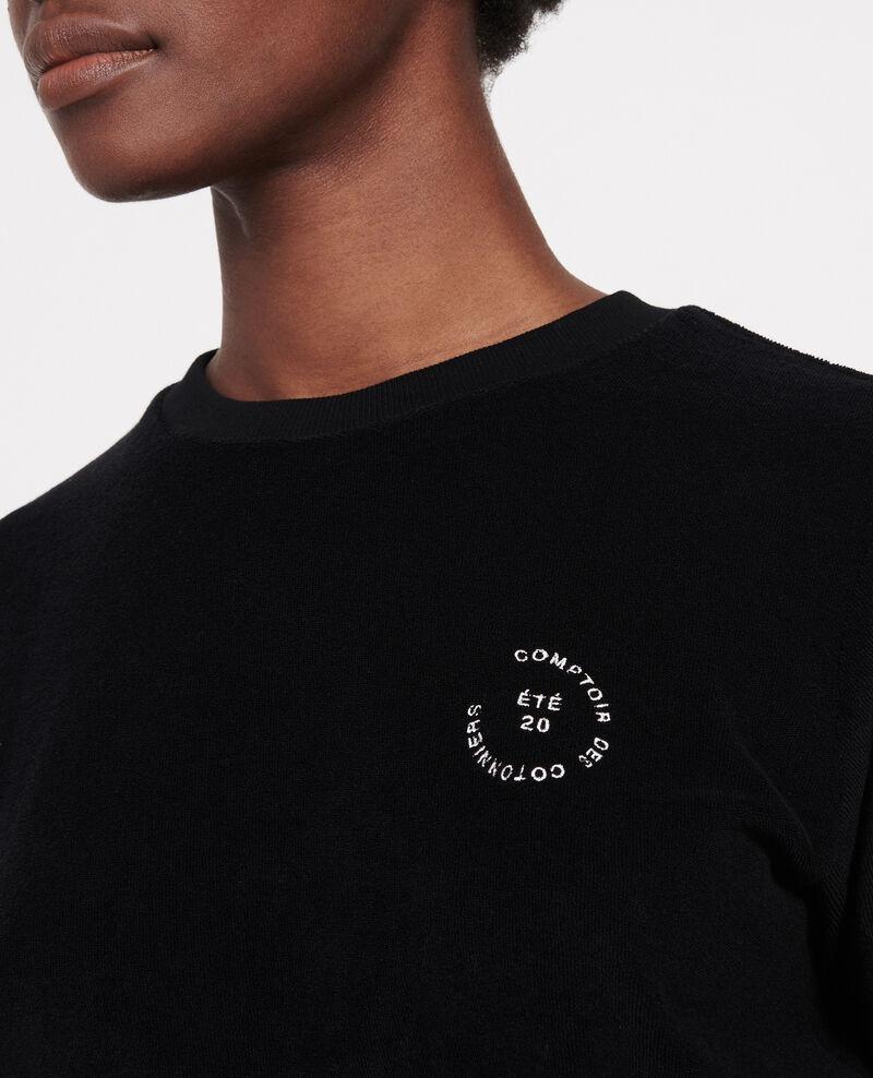 T-shirt en éponge 100% coton  Black beauty Lis