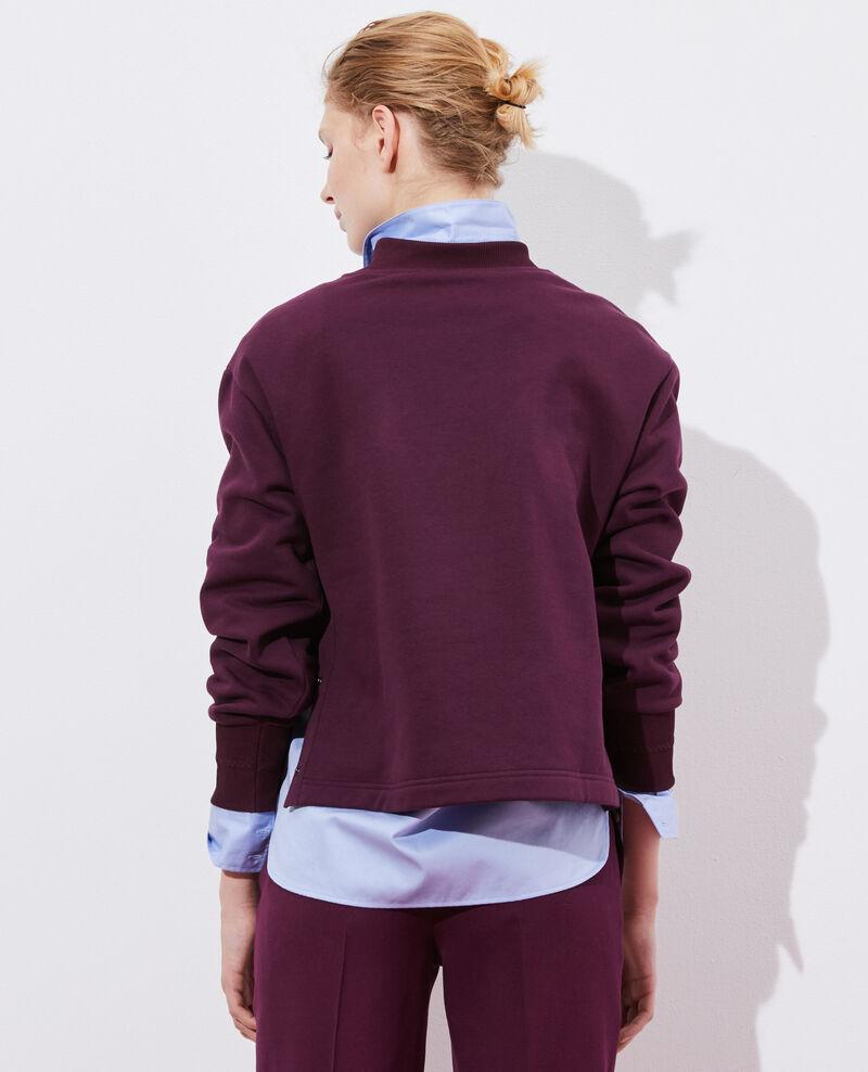 Sweatshirt col montant Potent purple Pexone