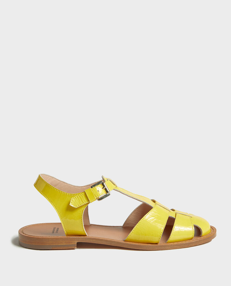 Sandales en cuir vernis Maize Lapiaz