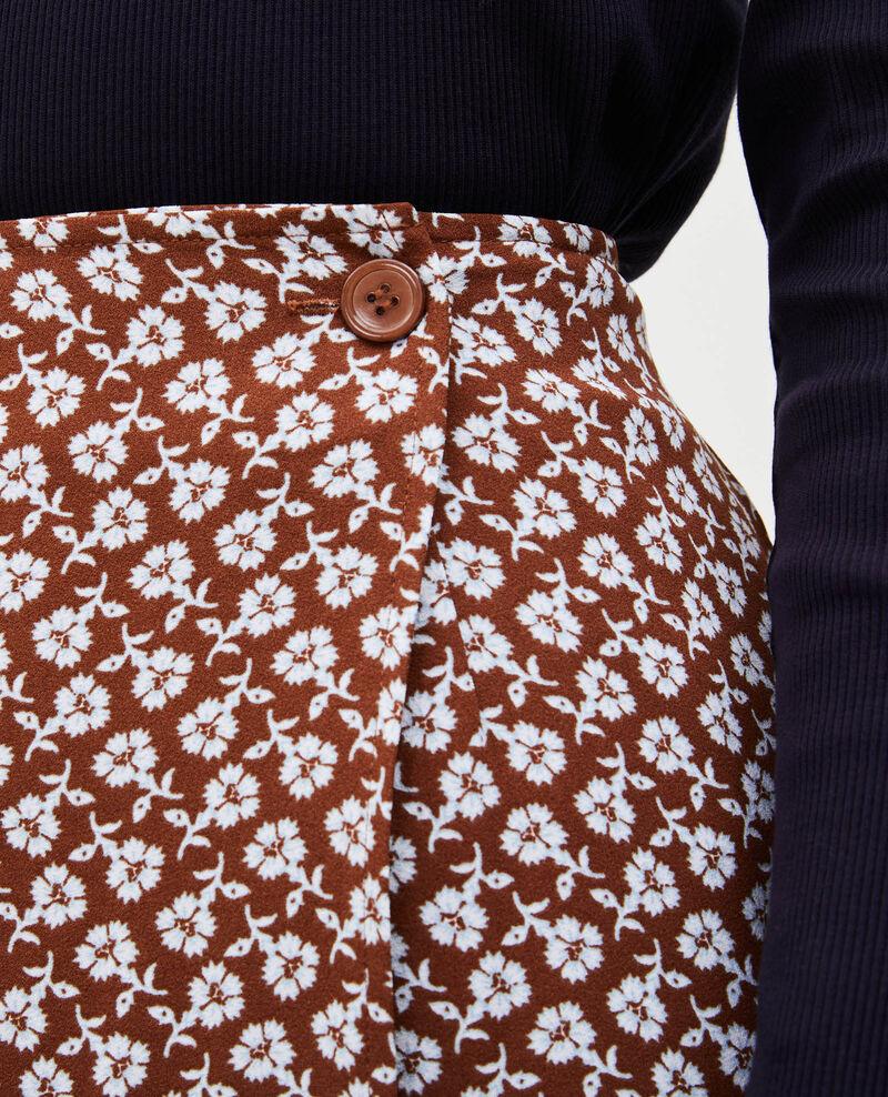 Jupe droite portefeuille à imprimé fleuri Print fleurettes tortoise shell Matza