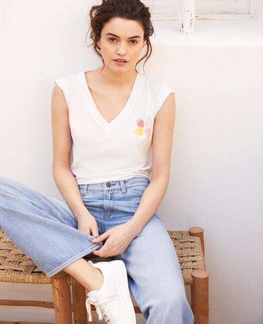 T-shirt avec des cœurs sur la poitrine OFF WHITE