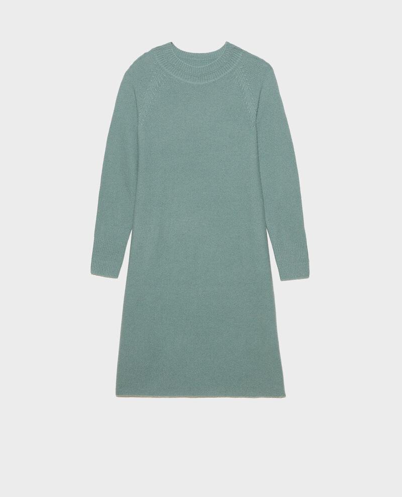 Robe pull 3D évasée en cachemire Chinois green Malroy