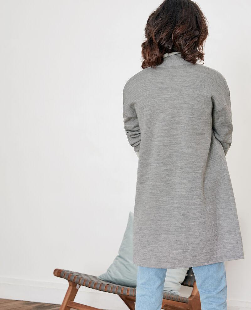 Cardigan réversible en laine  Cement/off white Finger