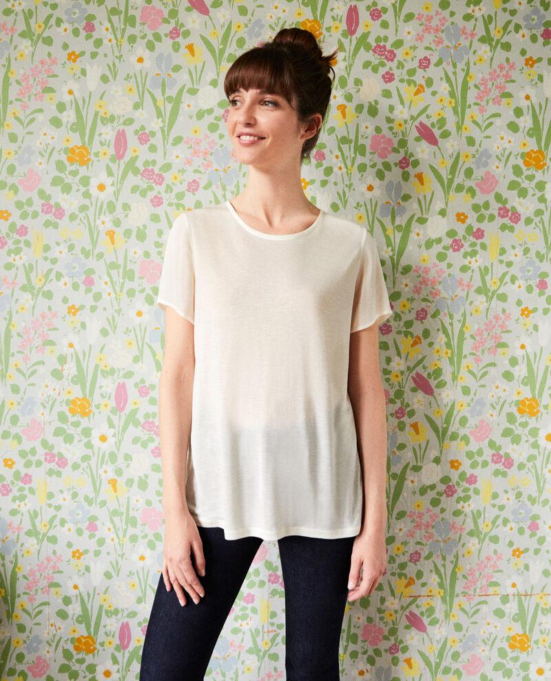 T-shirt bi-matière Off white Jabelle