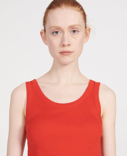 Débardeur en coton  FIERY RED
