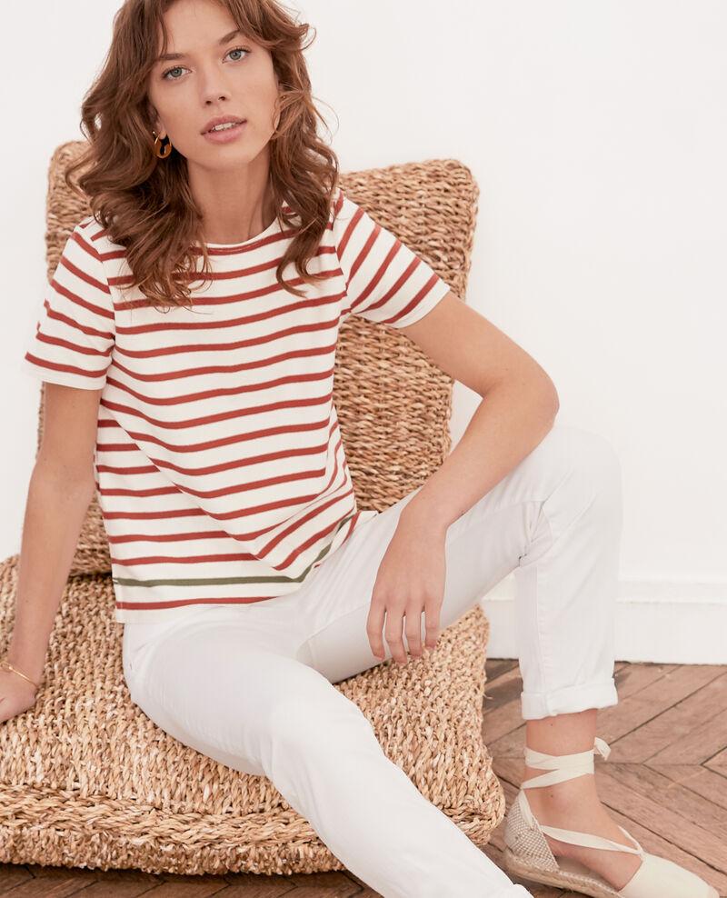 T-shirt marinière Kaolin/auburn/sage Fosette