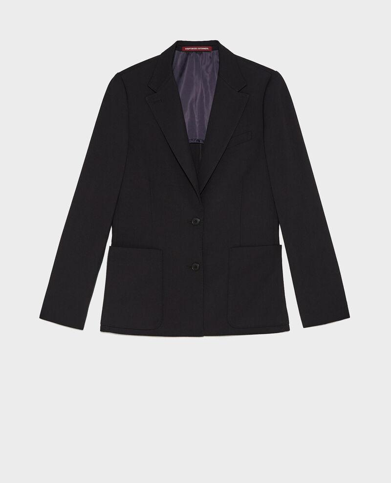 Blazer en laine masculin cintré Black beauty Mesanger