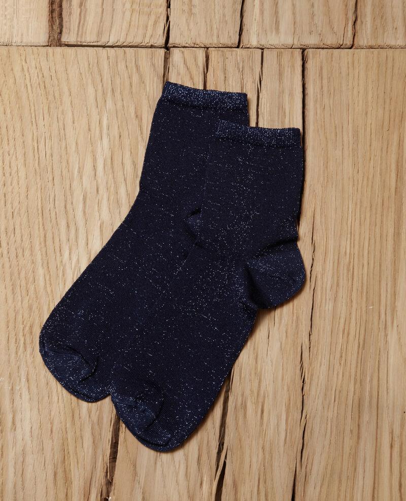 Chaussettes avec lurex Peacoat Gaussette