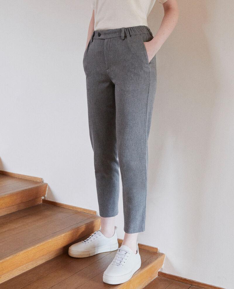 Pantalon coupe carotte Medium grey Galetto