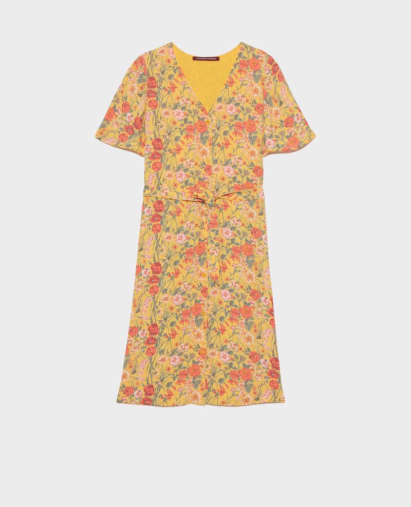 Robe courte imprimée Ete gold small Nauvishort